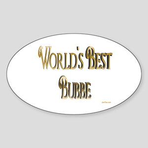 Wold's Best Bubbe Oval Sticker