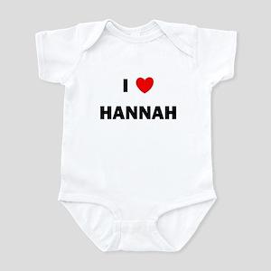 I love Hannah Infant Bodysuit
