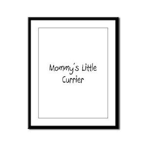 Mommy's Little Currier Framed Panel Print