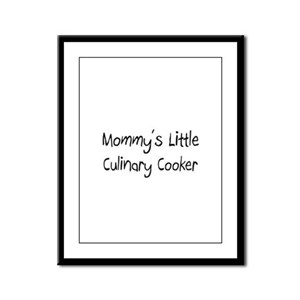 Mommy's Little Culinary Cooker Framed Panel Print