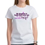 faster than yours 1 Women's T-Shirt