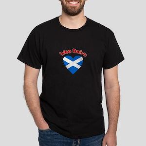 Wee Bairn Heart Dark T-Shirt