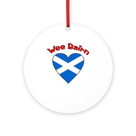 Wee Bairn Heart Ornament (Round)
