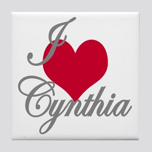 I love (heart) Cynthia Tile Coaster