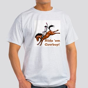Ride 'em Cowboy Ash Grey T-Shirt