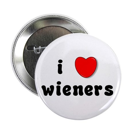 "i love weiners 2.25"" Button (100 pack)"