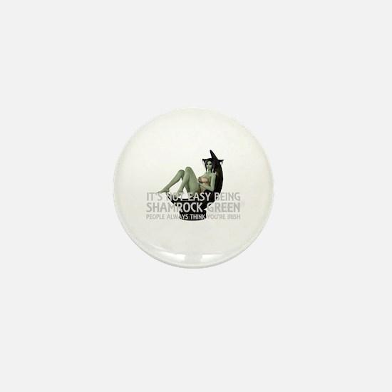 Be Shamrock Green Mini Button