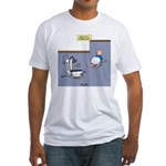 Baby Potty Training Robot Fitted T-Shirt