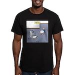 Baby Potty Training Ro Men's Fitted T-Shirt (dark)