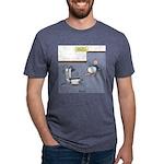 Baby Potty Training Robot Mens Tri-blend T-Shirt
