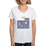 Baby Potty Training Robot Women's V-Neck T-Shirt