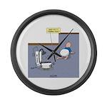 Baby Potty Training Robot Large Wall Clock