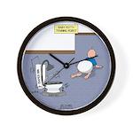 Baby Potty Training Robot Wall Clock