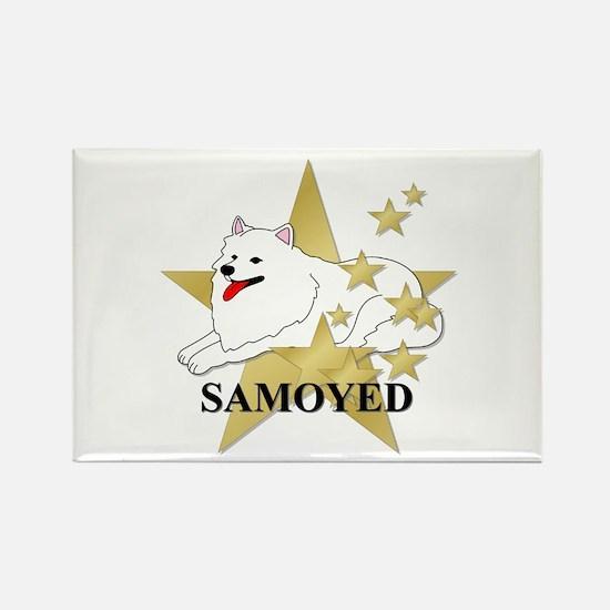 Samoyed Stars Rectangle Magnet