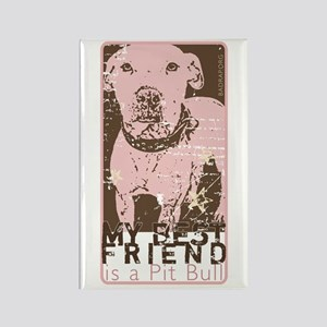 Vintage Best Friend Rectangle Magnet