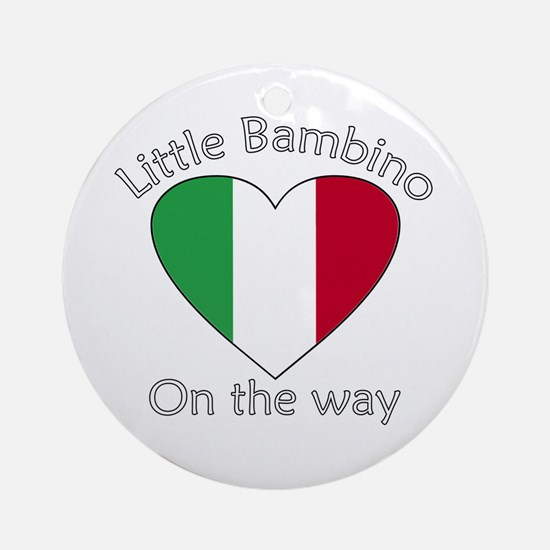 Little Bambino On the Way2 Ornament (Round)