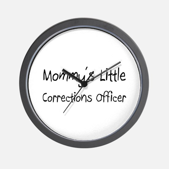 Mommy's Little Corrections Officer Wall Clock