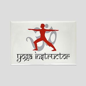 Yoga Instructor Rectangle Magnet