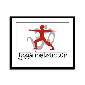 Yoga Instructor Framed Panel Print