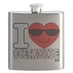I Love Oceanside Flask