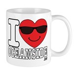 I Love Oceanside Mugs