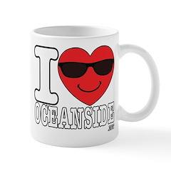 I Love Oceanside Mugs