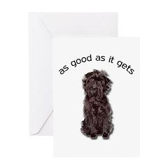 Good Affenpinscher Greeting Card