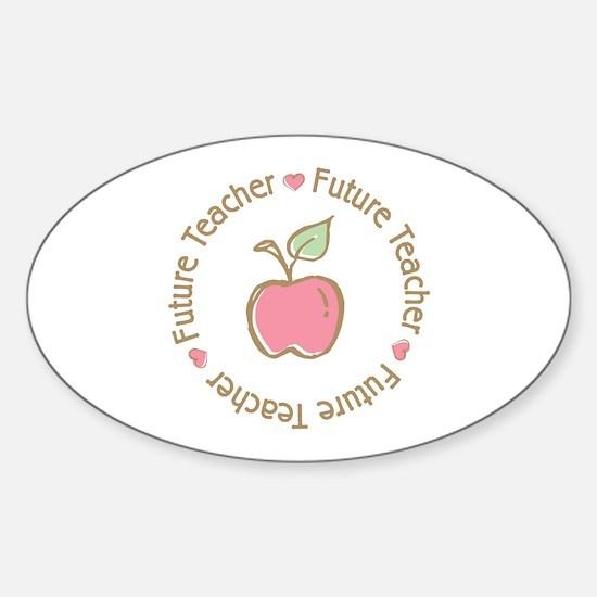 Future Teacher Oval Stickers