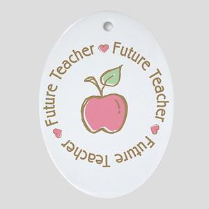 Future Teacher Oval Ornament