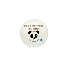 BEAR WITHOUT COFFEE Mini Button (10 pack)