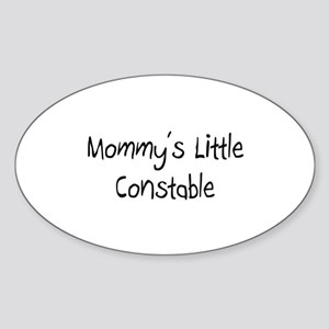 Mommy's Little Constable Oval Sticker