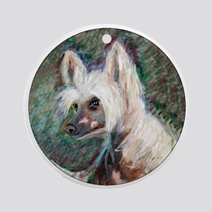 """""""Spring"""" a Chinese Crested Ornament (Round)"""