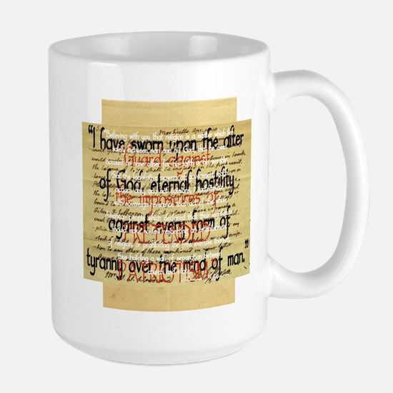 Thomas Jefferson Quotes Large Mug
