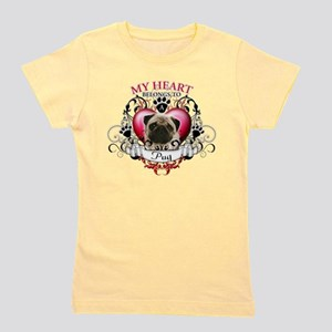 My Heart Belongs to a Pug T-Shirt