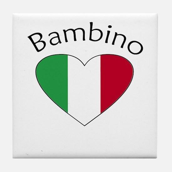 Bambino Heart Tile Coaster