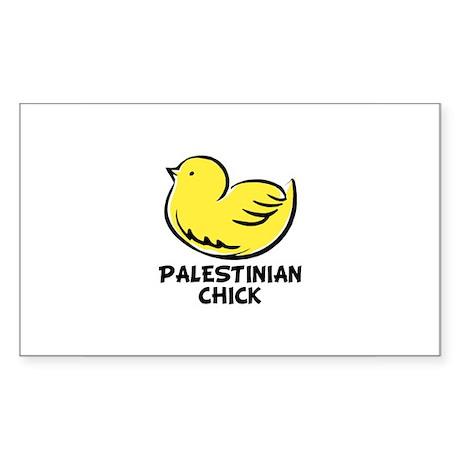 Palestinian Chick Rectangle Sticker