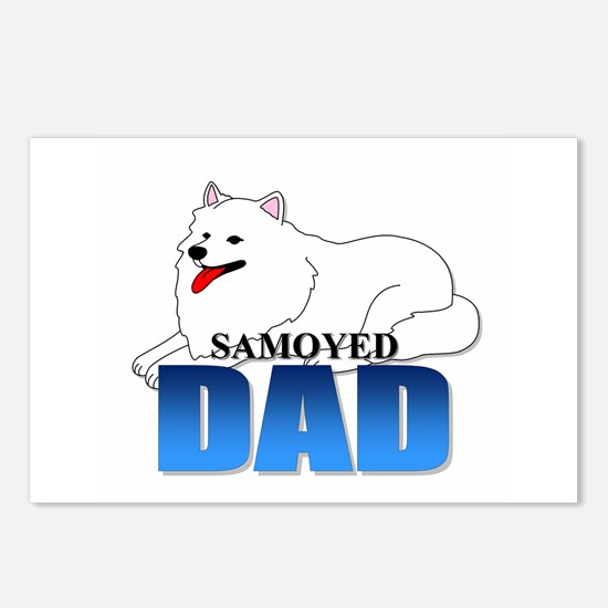 Samoyed Dad Postcards (Package of 8)