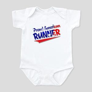 Proud American Runner Infant Bodysuit
