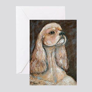 """""""Buffy"""" a Cocker Spaniel Greeting Cards (Package o"""
