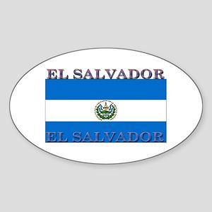 El Salvador Oval Sticker