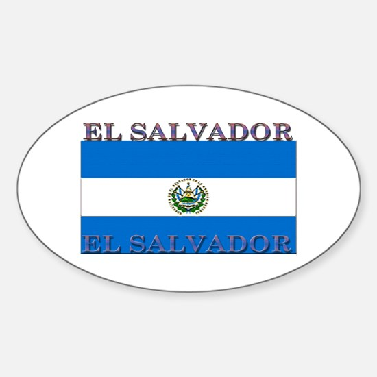 El Salvador Oval Decal