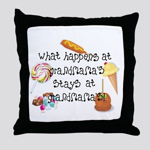 What Happens at Grandmama's... Throw Pillow