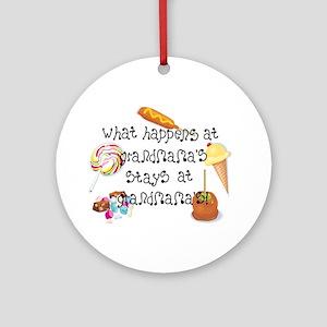 What Happens at Grandmama's... Ornament (Round)
