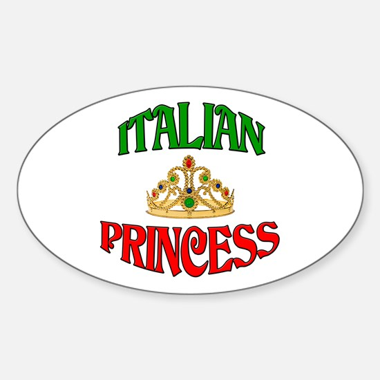 Italian Princess Oval Decal