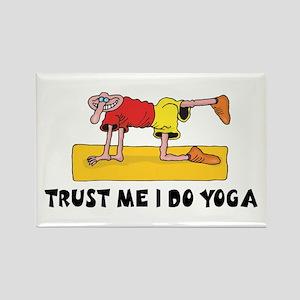 Trust Me I Do Yoga Rectangle Magnet