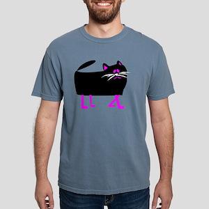 Black Cat pink legs T-Shirt