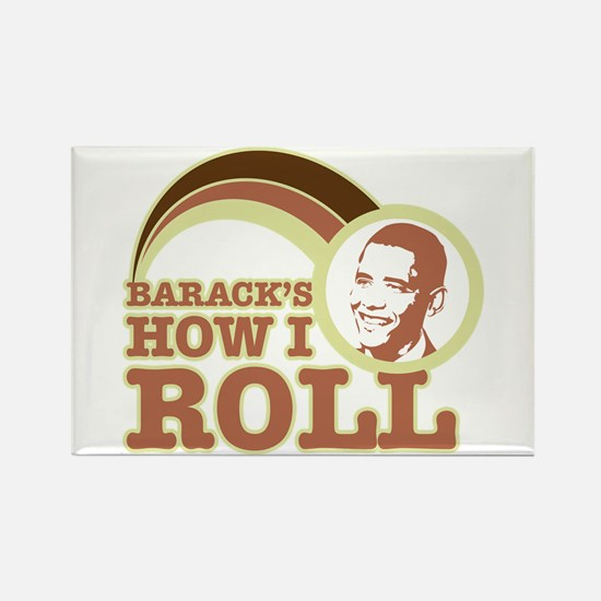 barack's how I roll Rectangle Magnet (100 pack)