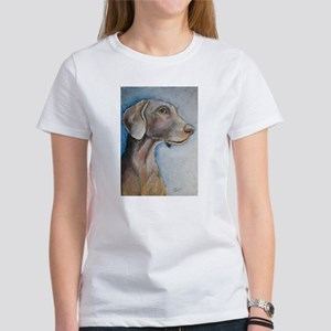 """Greta"" a Weimaraner Women's T-Shirt"