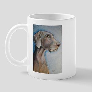 """Greta"" a Weimaraner Mug"