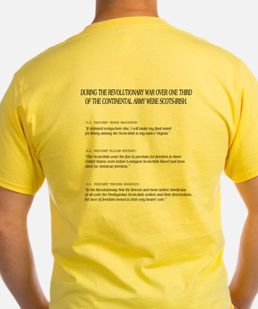 Yellow 'Don't tread on me' Tee (with back print!)